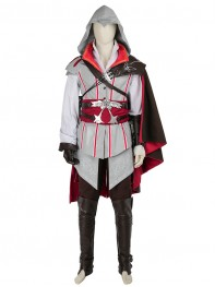 Assassin's Creed 2 Game Ezio Auditore AC2 Cosplay Costume