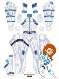 Disney's Kim Possible Battle Printing Costume