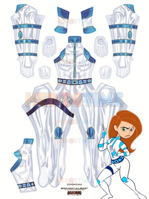 Disney's Kim Possible Battle Printing Costume