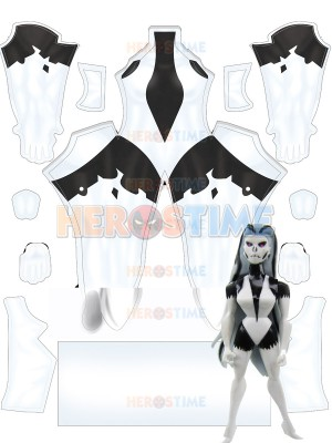 Sexy Silver Banshee Monster Mayhem Female Cosplay Costume