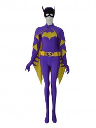 2014 Newest Batgirl DC Comics Purple Female Superhero Costume