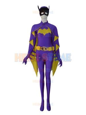 2014 Newest Batgirl DC Comics Purple Female Superhero Costume