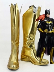 DC Comics Shiny Gold Batgirl Female Superhero Boots