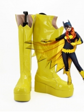Halloween Batgirl Yellow Platform High Boots
