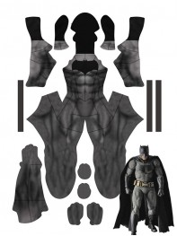 Classic Batman Dye-sub Printing No Mask Superhero Costume