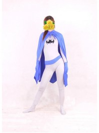 DC Comics Batman Purple & White Spandex Superhero Costume