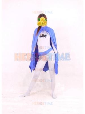DC Comics Batman Purple & White Spandex Superhero Costume