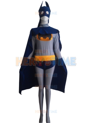 Navy Blue & Grey Batman Superhero Costume