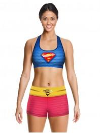 Supergirl Dry Running Sports Bra Short Fitting Legging Pants