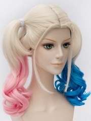 Batman Movie Harleen Quinzel Pink And Blue Cosplay Wig