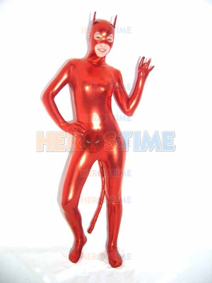 DC Comics Shiny Metallic Red Catwoman Superhero Costume