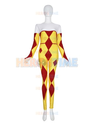 Harlequin Inspired Superhero Custom Unitard