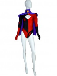 Harley Quinn Girls Super Villain Spandex Costume