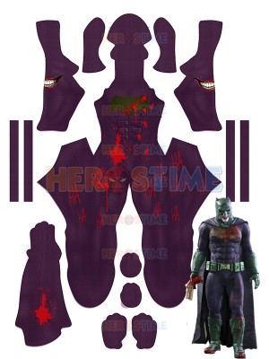 The Joker Batman Imposter Version Suicide Squad No Mask Cosplay Costume