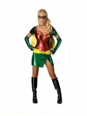 DC Comics Robin Carrie Kelley Metallic Superhero Dress