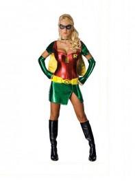 DC Comics Robin Carrie Kelley Metallic Superhero Dress