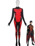Red Robin Tim Drake Spandex Superhero Costume