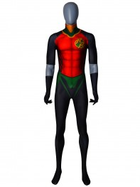 Robin Costume Rebirth Red Robin Cosplay Suit No Cape