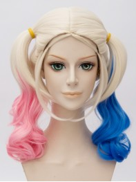 Suicide Squad Harley Quinn Pink And Blue Gradient Cosplay Wig