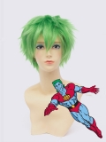 Captain Planet Green Male Superhero Wig