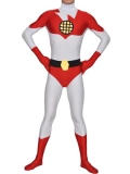 Captain Planet Spandex Superhero Costume In White