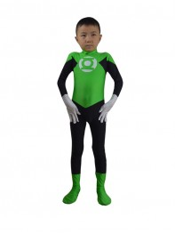 Child Green Lantern Spandex Superhero Costume