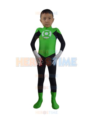 Child Green Lantern Spandex Superhero Costume