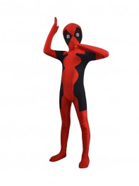 Child Newest Hot Deadpool Spandex Superhero Costume