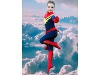 Kids Superhero Costume Ms Marvel Carol Danvers Girls Superhero Costume