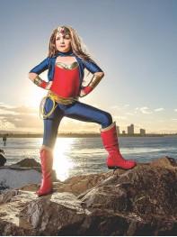 Kids Wonder Woman Costume Girls Spandex Superhero Suit