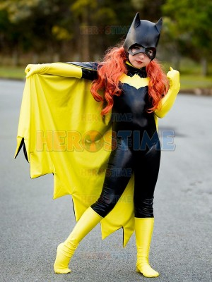 Kids Popular Batgirl Cool Superhero Costume With Cape