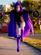 Kids Raven Spandex DC Comics Superhero Costume