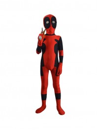 Kids Classic Deadpool Spandex Superhero Costume