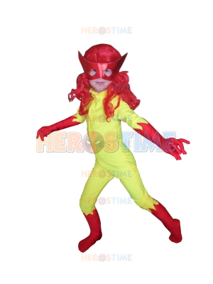 Kids Firestar Spandex Girls Superhero Costume