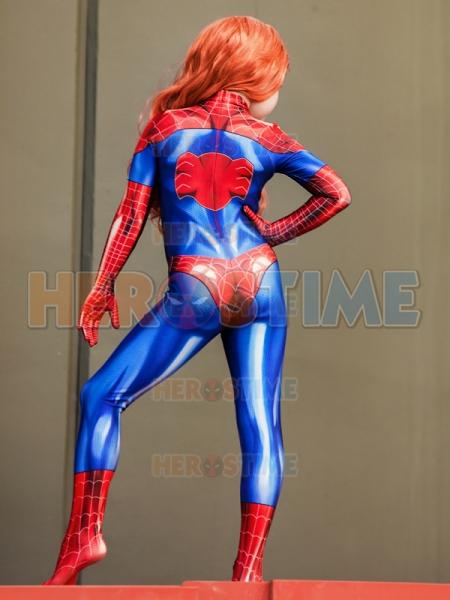 MJ Jamie Spider Costume Mary Jane Girl Female Spiderman Cosplay Suit