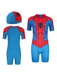 Kids' Superhero Swimsuit One-Piece Spiderman Swimsuit