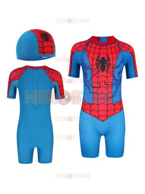 Kids' Superhero Swimsuit One-Piece Spiderman Swimsuit