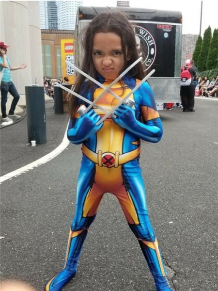 Kid X-23 Suit Laura Kinney Printing Cosplay Costume