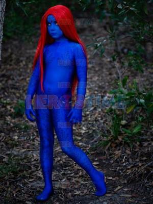 Mystique Cosplay Suit X-men Film Costume Kids Halloween Cosplay Costume