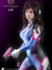 Ready-To-Ship Video Game Overwatch D.VA Cosplay Costume