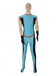 2014 New Custom Blue Superhero Suit