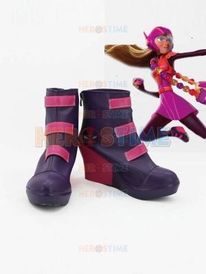 Big Hero 6 Honey Lemon Wedge Heel Cosplay Ankle Boots