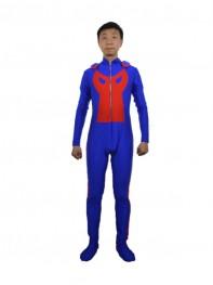 Blue Custom Cool Mens Superhero Costume - Hustle Costume