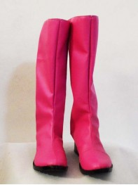 Fuchsia PU Power Ranger Superhero Cosplay Boots