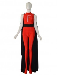 2014 Newest Custom Red F Female Superhero Costume