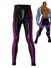 Jax Briggs Mortal Kombat Black Purple Shiny Metallic Superhero Pants