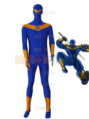 Knight Seeker Blue Superhero Costume