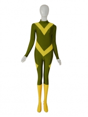 Army Green & Yellow Color Custom Superhero Costume
