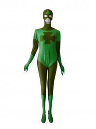 Lucky Comics Green Custom Superhero Costume