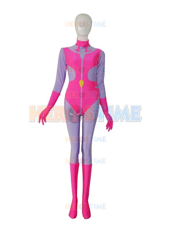 mighty lady custom pink  u0026 purple superhero costume